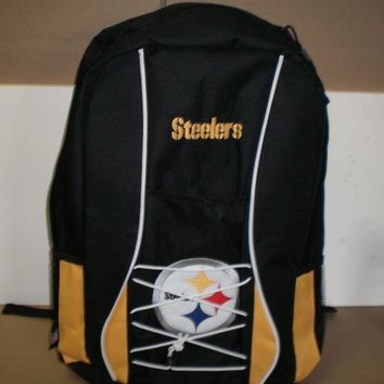 Brand New NFL Adult Pittsburgh Steelers  Large Scrimmage Backpack Back Pack
