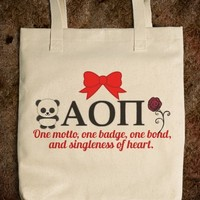 Alpha Omicron Pi Sorority Tote