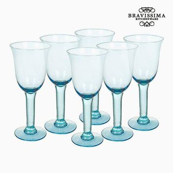 Recycled Wine Glasses (6 pcs) (35 cl) - Queen Kitchen Collection by Bravissima Kitchen
