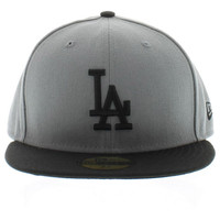 Los Angeles Dodger Storm Gray & Black The MLB Basic 59fifty 5950 New Era