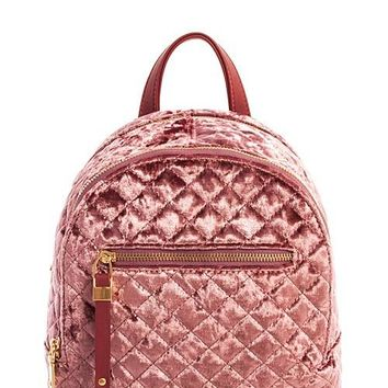 Princess Velvet Backpack | Dark Pink