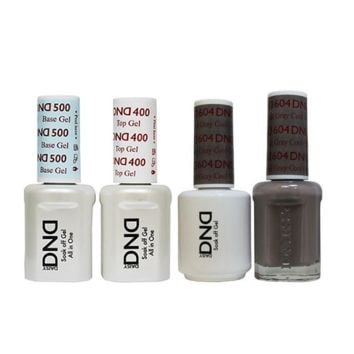 DND - Base, Top, Gel & Lacquer Combo - Cool Gray - #604