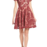 Soprano Lace Off the Shoulder Fit & Flare Dress | Nordstrom