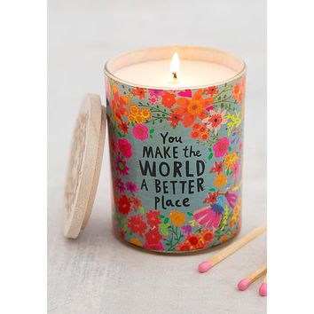 Make The World Better Soy Candle