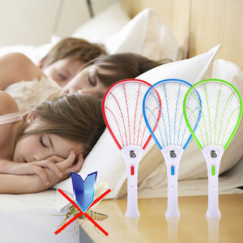 New Electronic Swatter Mosquito Racket Fly Racket Handled Fly Racket Electric Bug Zappers Fly Mosquito Killer