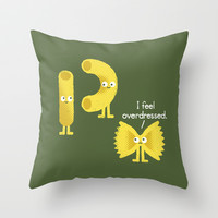 Pasta Party Throw Pillow by David Olenick
