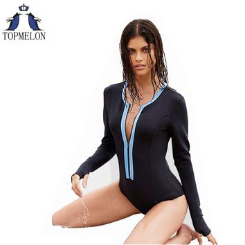 one piece swimsuit long sleeve swimwear women sexy one piece swimwear one piece bathing suits plavky swimming suit for women