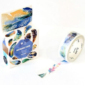 JA310 The Flying Feather Decorative Washi Tape DIY Scrapbooking Masking Tape School Office Supply Escolar Papelaria