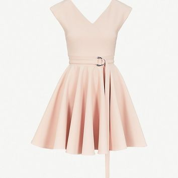 MAJE - Rimae belted crepe mini dress | Selfridges.com