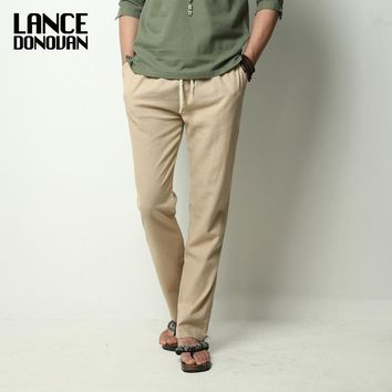 Chinese Style Men's Linen Pants