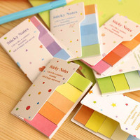 Rainbow Colored Mini Sticky Notes Office Stationery Kawaii Stickers Scrapbooking Planner School Supplies Adhesive Memo Pads