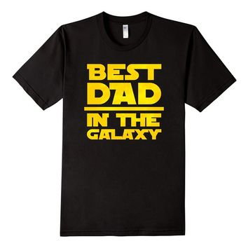 Best Dad In The Galaxy Wars T-Shirt - Father's Day Star Gift