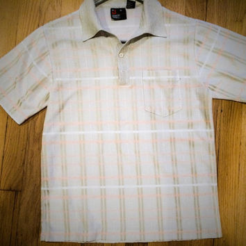 Vintage 1970's  Men's Polo Golf Shirt Size Medium