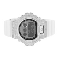Custom G-Shock Watch Simulated Diamonds Digital Alarm Chrono DW6900NB-7