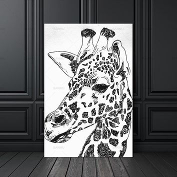 Wall art picture canvas painting animal zebra poster Picture wall art home decration Decorative Picture for Living Room  prints