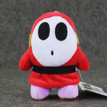14cm Super Mario Plush Shy Guy anime plush stuffed pendant keychain toy doll with sucker