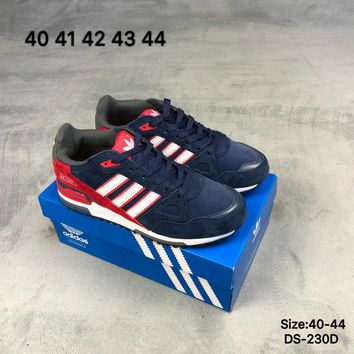 Adidas ZX 750 Men Women Fashion Casual Sports Running Shoes Blue/Red 2 Colors