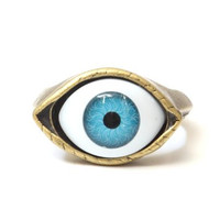 Evil Eye Ring Size 7 Blue Nazar Amulet RI14 Statement Fashion Jewelry