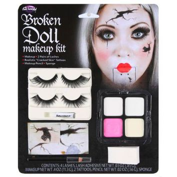 Creepy Doll Makeup Broken Porcelain Halloween Costume Fancy Dress