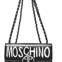 Moschino - Printed quilted leather shoulder bag