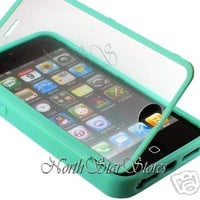 for APPLE IPHONE 5 5G 6 GEN MINT GREEN FULL BODY HARD CANDY TPU CASE COVER SKIN