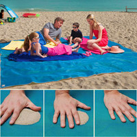 sand free mat Camping Mat Outdoor Picnic Mattress Beach Mat  HDPE sand free mat beach cushion outdoor blue