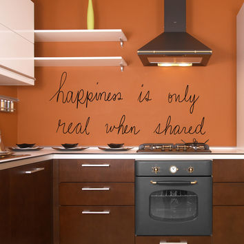 Vinyl Wall Decal Sticker Real Happiness #OS_MB661