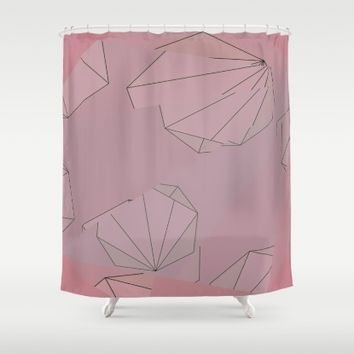 Shapes Shifted Shower Curtain by Ducky B