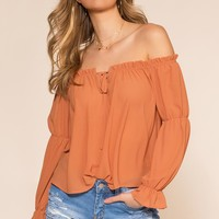 Keepsake Off The Shoulder - Apricot