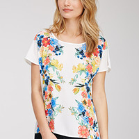 Watercolor Floral Chiffon Top