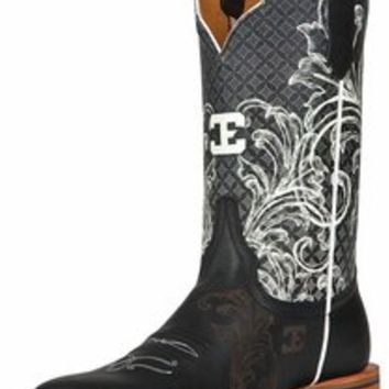"Cinch Edge Women's ""Can't Stop Me"" Square Toe Cowboy Boots - Black/ White $269"