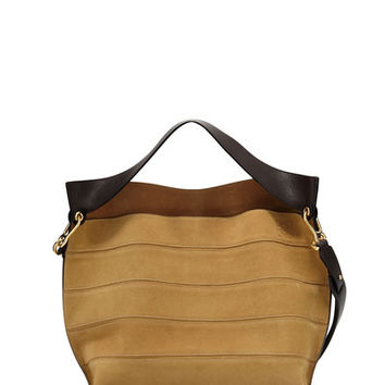 Loewe Hammock Small Suede Shoulder Bag, Gold