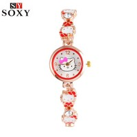 Hello Kitty Watch Children's Watches Kids Watches For Girls Cartoon Bracelet Watch Girl Hello Kitty Clock saat relogio kol saati