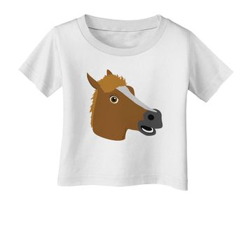 Silly Cartoon Horse Head Infant T-Shirt by TooLoud