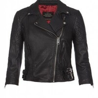 Womens Leather Jacket | Cropped Voxon Jacket | AllSaints