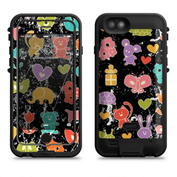 The Furry Fun-Colored Critters Pattern  iPhone 6/6s Plus LifeProof Fre POWER Case Skin Kit
