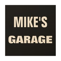 12 X 12 PERSONALIZED GARAGE WOOD WALL ART SIGN