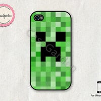iPhone 4 Case, iPhone 4s Case, iPhone Case, iPhone Hard Case, iPhone 4 Cover, iPhone 4s Cover, Minecraft Creeper