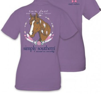 "Simply Southern ""Run Fast"" Tee- Purple"