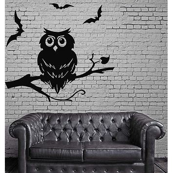 Owl Night Bird Ghost  Kids Funny  Mural Wall Art Decor Vinyl Sticker Unique Gift z458
