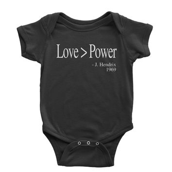 Love Is Greater Than Power Quote Infant One-Piece Romper Bodysuit