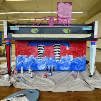 Alice in Wonderland – Street Art Piano – Work in Progress – Shoreline, WA