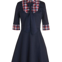 ModCloth Scholastic Mid-length 3 A-line Expert in Your Field Trip Dress