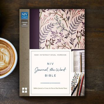NIV Journal The Word Bible-Pink Floral Hardcover