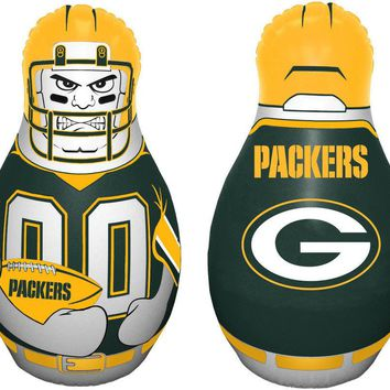 """Green Bay Packers 40"""" Tall Tackle Buddy NFL Licensed Punching Bag"""