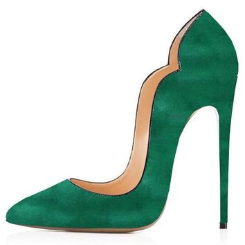 Comfity Pumps For Women Sexy Pointed Toe High Heels Slip On Shoes Party Wedding Pumps
