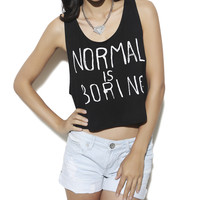 Statement Laser Cut Crop Tank | Shop Graphic Impact at Wet Seal