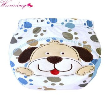 New Lovely Newborn Baby Panties Cloth Diaper Cloth Training Pants Diaper Cover Baby LABS Pants Nappies