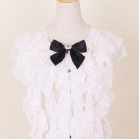 Flouncing Bowknot Top - Retro, Indie and Unique Fashion