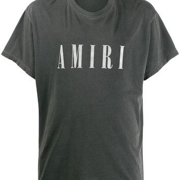 Grey Logo Washed T-Shirt by Amiri